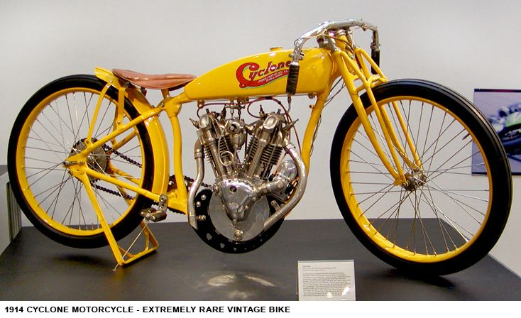 1914 Cyclone Motorcycle - Extremely Rare Vintage Bike. Ride around on 6th floor ex Steve McQueen & Wright