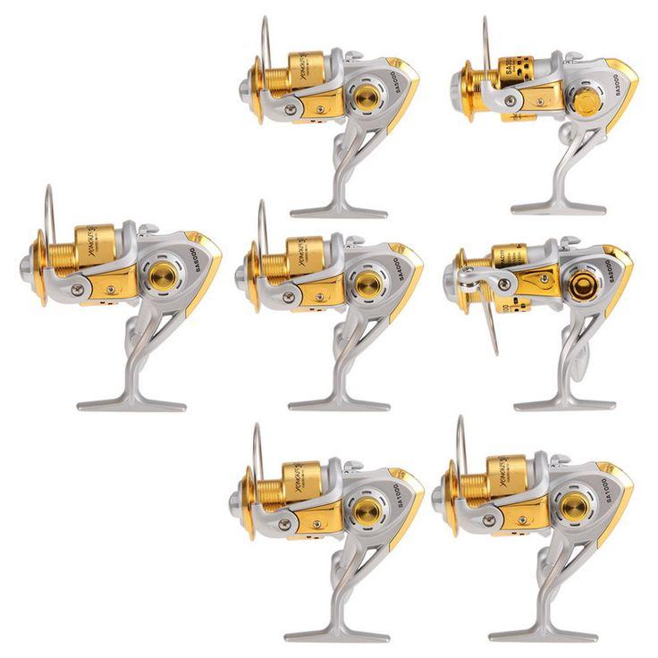 Vente chaude Haute Vitesse G-ratio 5.5: 1 Spinning Reel 6BB Roulement À Billes Moulinets De Pêche 1000-7000 série Moulinets De Pêche Outils De Pêche H1E1