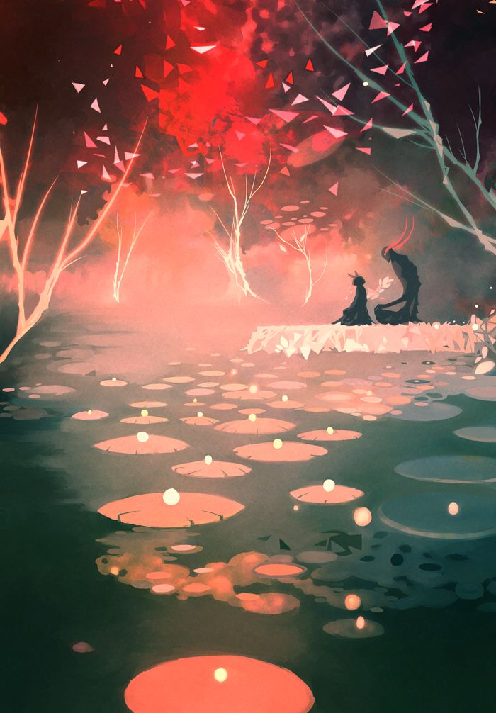 sorry for the lack of activity lately ;u; redraw of an old panting ,never liked the original palette and the composition. I tried to make this one looks serene even if the colors are kind of hostil...