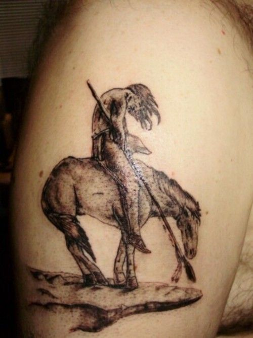 indian horse tattoo designs trickster tattoo 39 s tattoo 31 horse tattoo pinterest pferde. Black Bedroom Furniture Sets. Home Design Ideas