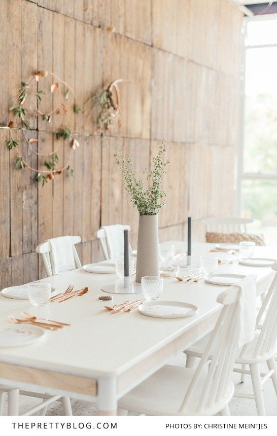 A minimal take on the celebratory meal - festive inspiration with simplicity at its heart!
