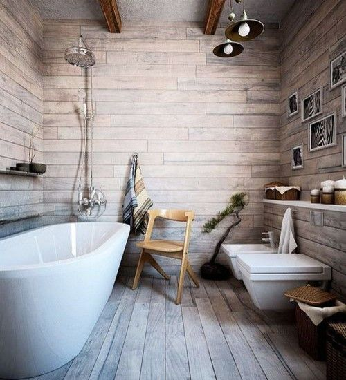 Коричнево белая ванная комната
