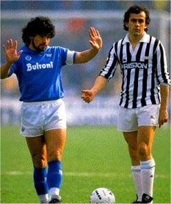 Maradona & Platini.  Napoli vs. Juventus
