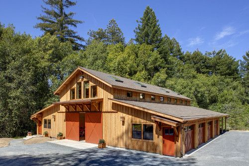 Redwood Barn ~ Grown and Harvested For Sustainability. Would Love To Have This Structure For An Art Studio.