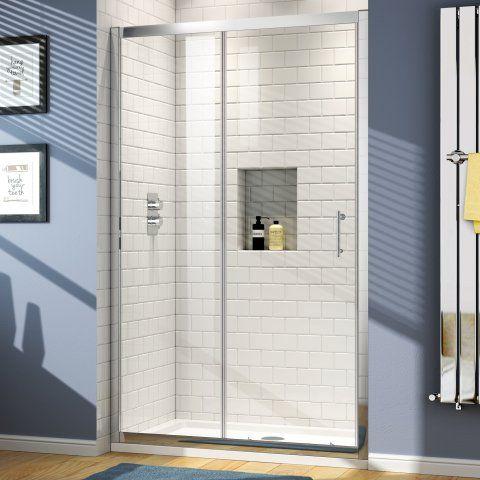 1200mm Elements Sliding Shower Door | 6mm  - Soak.com