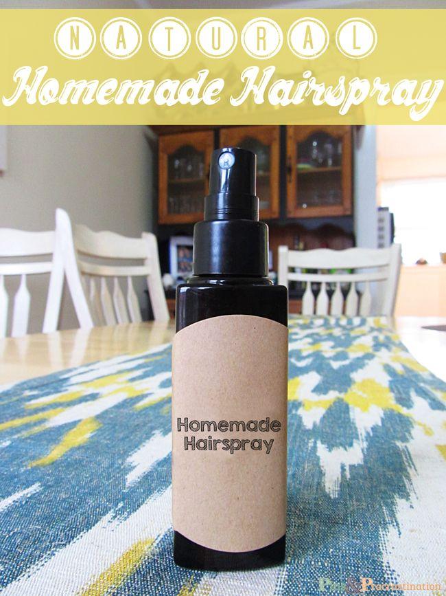 How to Make Natural Homemade Hairspray