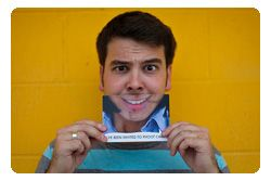 Funny Face Photo Invites: Two-Faced, In a Good Way