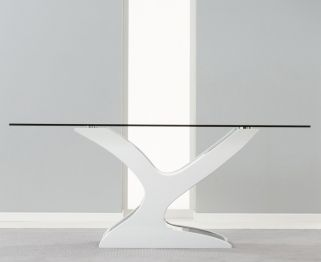 Buy Mark Harris Natalie Black And White High Gloss Glass Top Dining Table