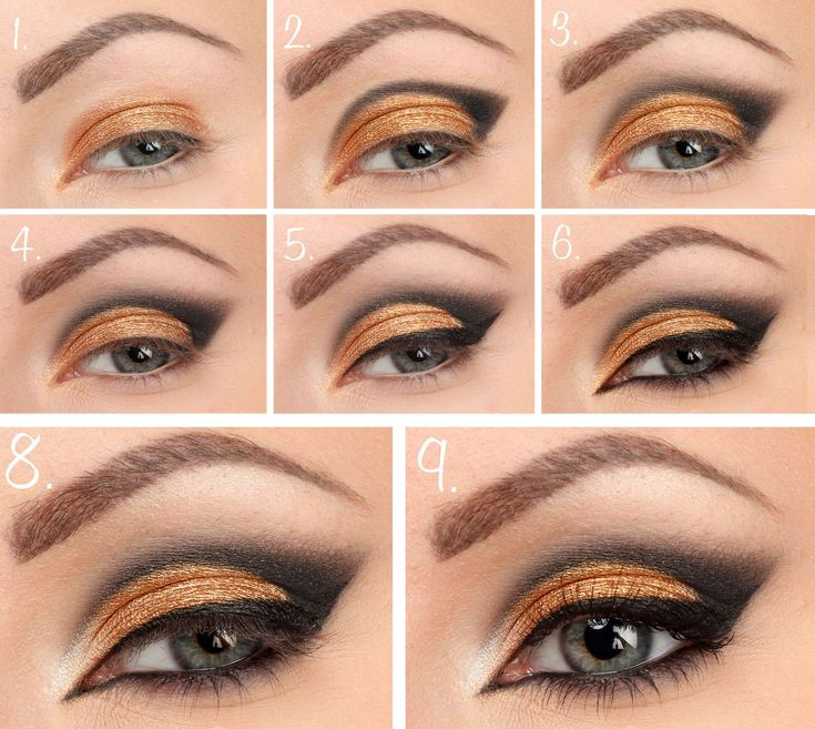 New Year make-up-step-by-step