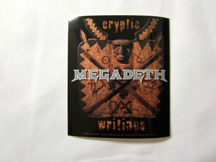 Megadeth Cryptic Writings Licensed rock band sticker window car music decal