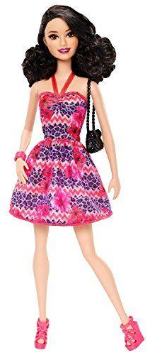 Barbie Fashionista Raquelle Doll, Pink and Purple Dress B…