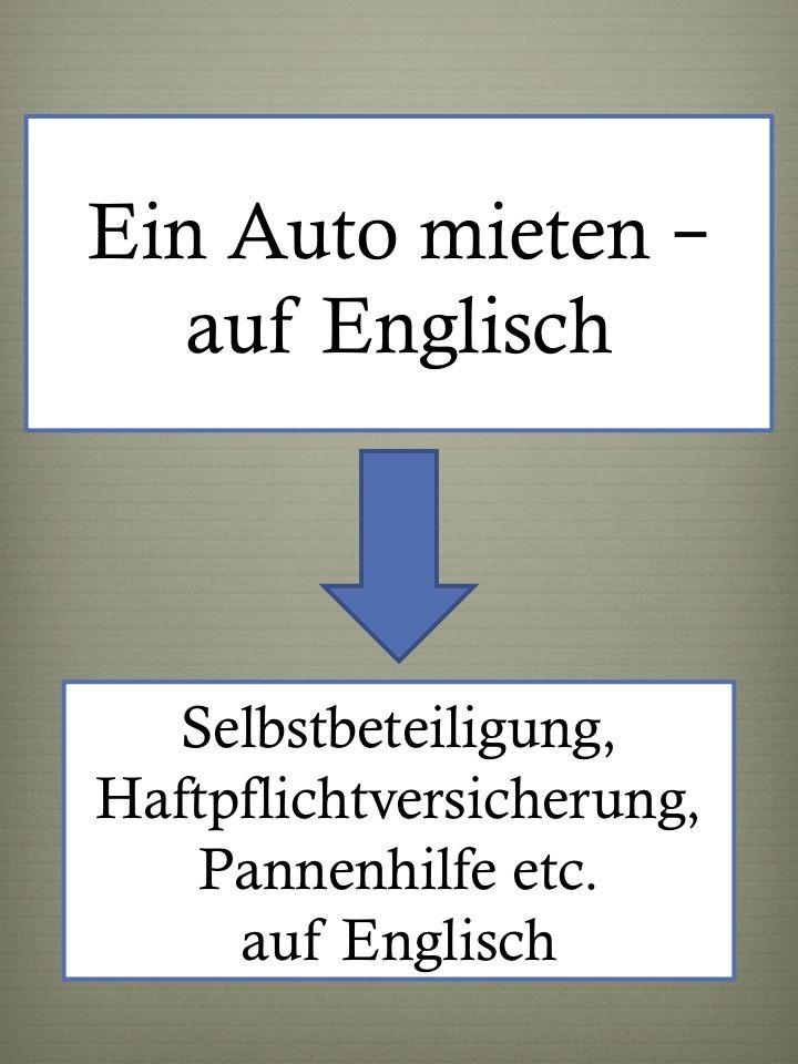 Englisch lernen für die Ferien, Englisch-Wortschatz zum Mieten eines Autos: Pannenhilfe …   – Sprachen