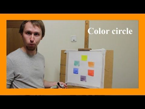 Color circle, complementary colors and their contrast (subtitles). More info on www.daniil-belov.com