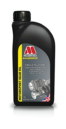 """Millers Oils CRX LS 75w140 NT+ - 1 liter bottle - PRODUCT NAME/VISCOSITIES: CRX LS 75w140 NT+ DESCRIPTION: Competition heavy duty fully synthetic transmission oil for highly stressed applications with friction modifiers for limited slip differentials. Incorporates """"Nano Technology"""" additive chemistry to significantly reduce internal frictional a..."""
