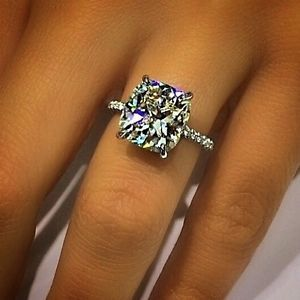 D/VS2 1.30  CT.Cushion Cut Micro Pave Engagement Ring Wedding - GIA CERTIFIED