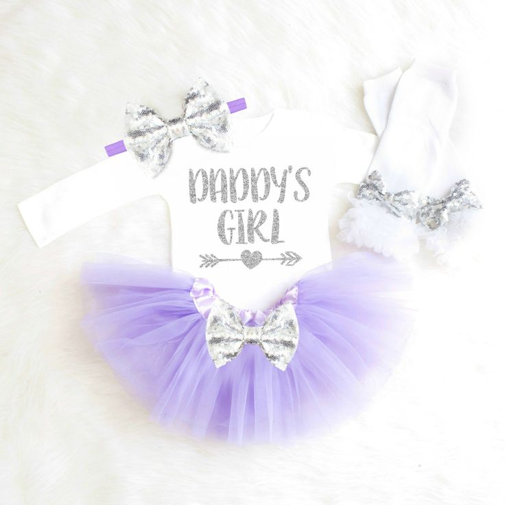 Daddy's Girl Outfit Baby Girl Outfit Daddy Onesie Baby Girl Coming Home Outfit Lavender Daddy's Princess Newborn Girl Baby Shower Gift K12 by KennedyClaireCouture on Etsy