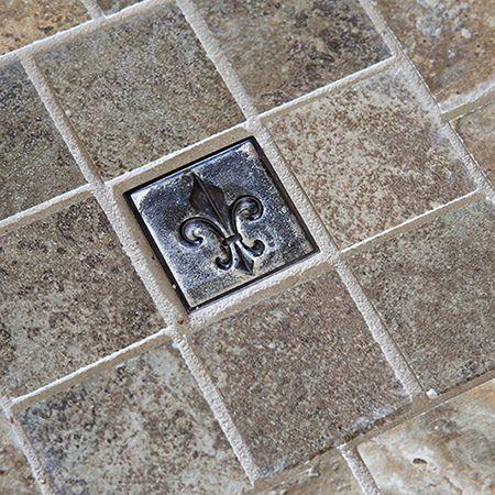 Metal Fleur De Lis Accent Tile For Your Backsplash Master