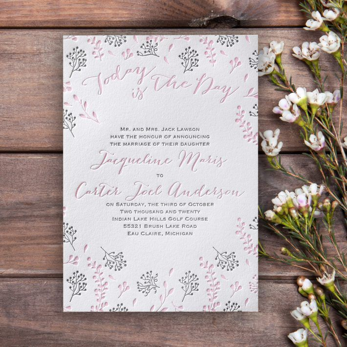 wedding invitations from michaels crafts%0A The Craft of Letterpress