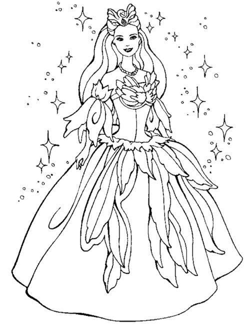 princess barbie coloring pages - photo#26