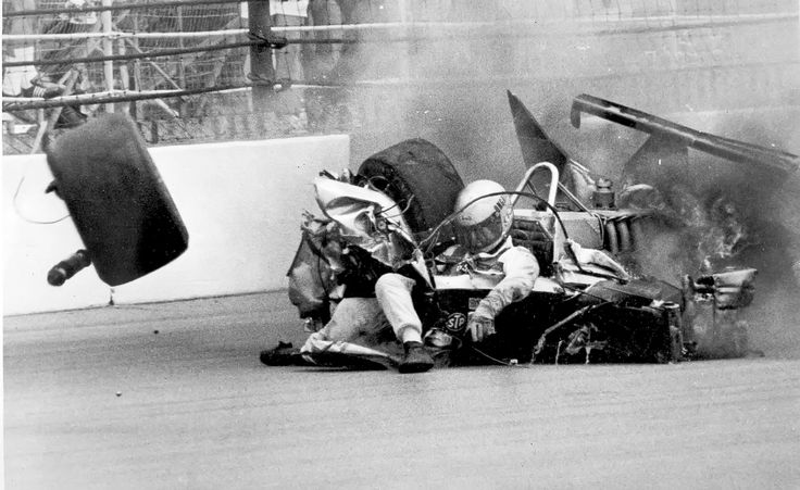 Danny Ongais nearly fatal crash at Indy 500 (May 24, 1981)  Danny Ongais hits the wall of turn three in the 64th lap of the Indianapolis 500-mile race on Sunday, May 24, 1981 at Indianapolis. Ongais, of Hawaii, survived crash with arm and leg breaks as well as internal injuries. He was leading the Indy 500 at the 137 mile mark, as The New York Times contemporarily reported, when he pitted for fuel. Ongais stalled, then rushed out of the pits after the long stop...