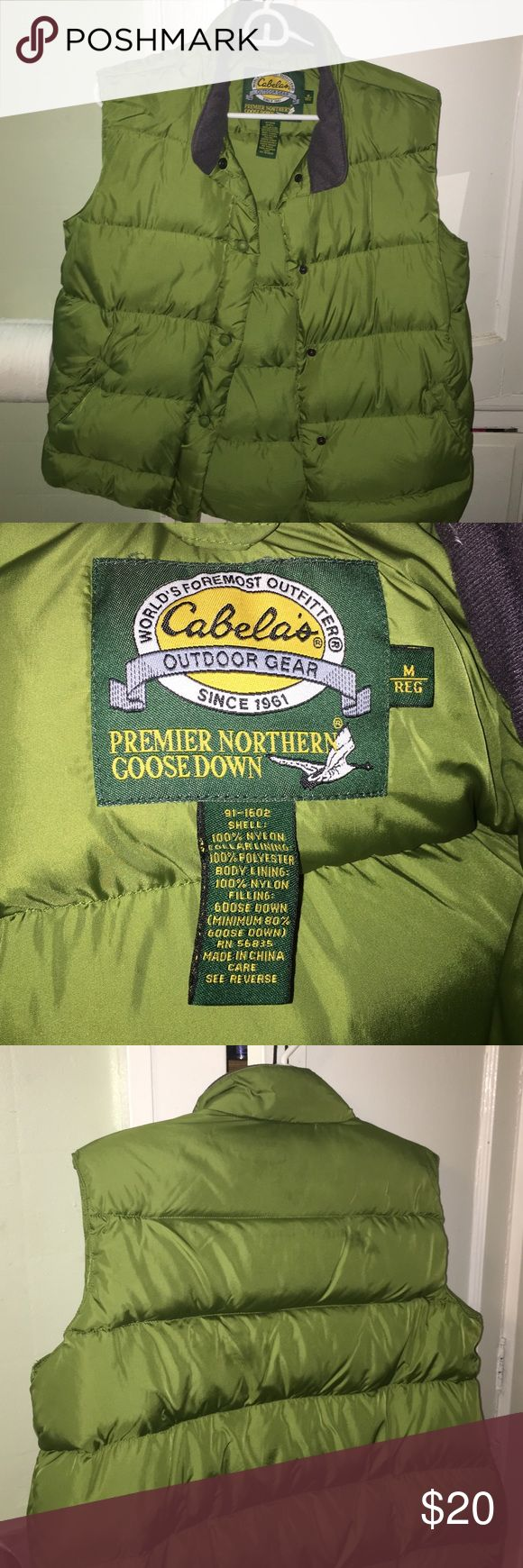 Spotted while shopping on Poshmark: Cabela's Down puffy vest! #poshmark #fashion #shopping #style #Cabela's #Jackets & Blazers