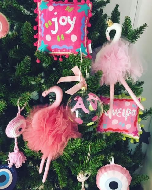 how about decorating a pink flamingo xmas tree this year?? cotton prince handmade products