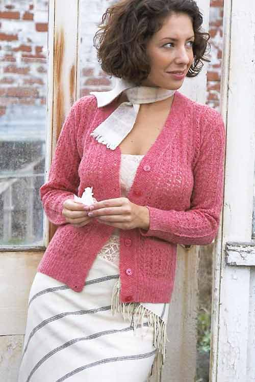 Knit a lace cardigan :: free knitting pattern :: cardigan knitting patterns :: allaboutyou.com
