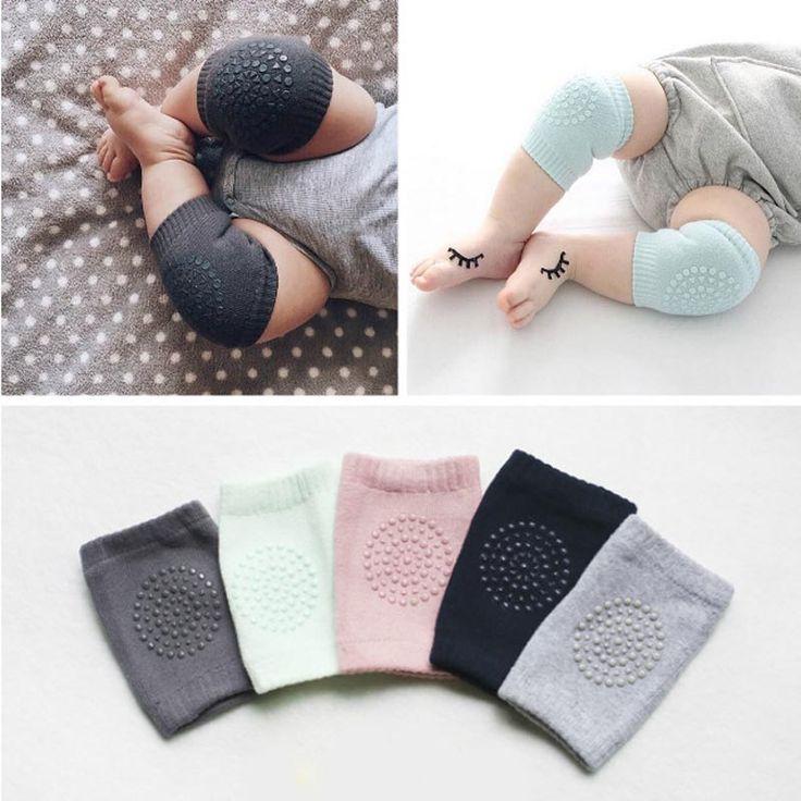 新しい綿summer赤ちゃん膝パッド子供アンチスリップクロール必要な膝プロテクター赤ちゃんレッグウォーマー1ペア