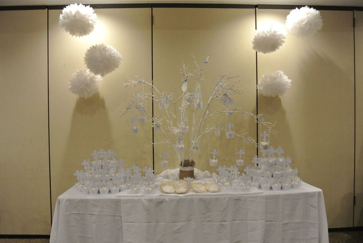 1000 ideas about boy baptism centerpieces on pinterest for Baby dedication decoration ideas