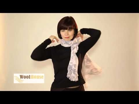 Como hacer nudos para bufandas, pashminas y fulares - YouTube