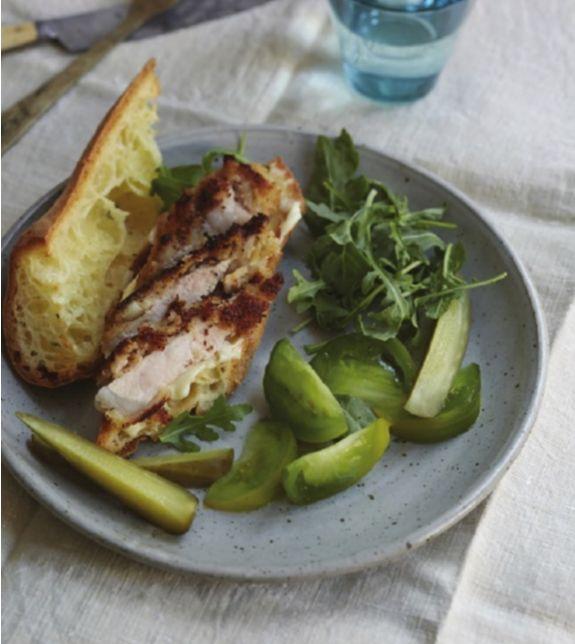 Breaded pork loin sandwiches