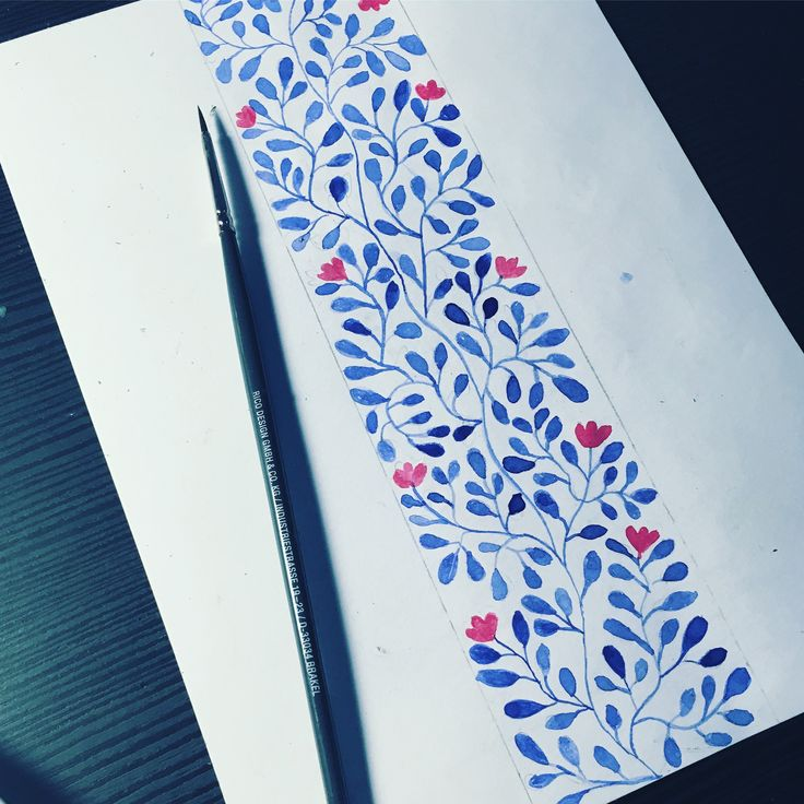 @_macalar_ Handmade watercolor pattern draw by macalar #flowers #dibujar #acuarela #flores