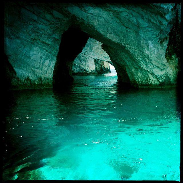 Blue Cave at Zakinthos, Greece