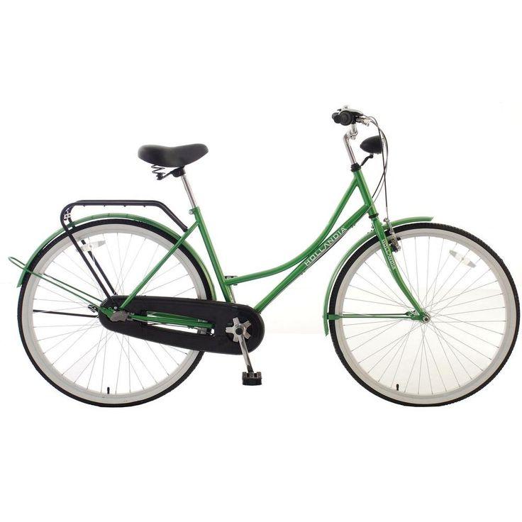 Amsterdam F1 Dutch Cruiser Bicycle, 28 in. Wheels, 18 in. Frame, Women's Bike in Green, Greens
