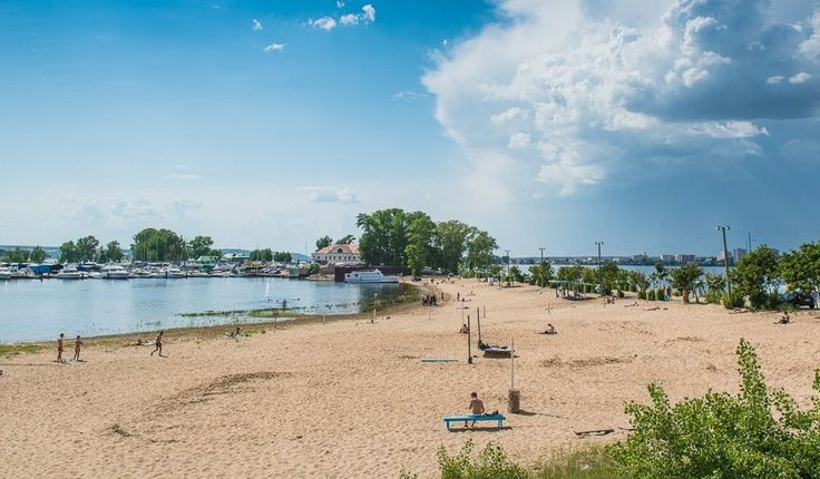 Пляж «Локомотив» Казань