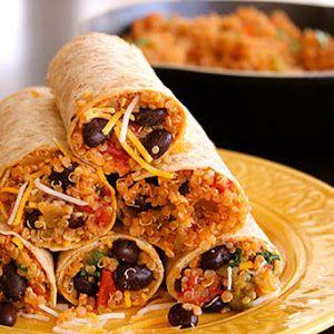 Protein Quinoa & Bean Burrito Wrap Recipe   Yummly