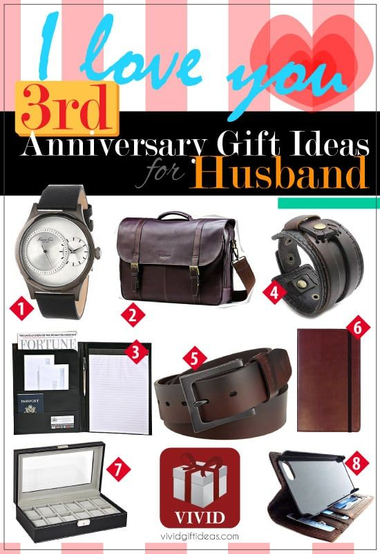 Unique wedding 3rd anniversary gifts for him