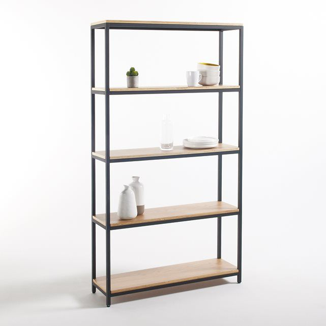 Talist Large 5-Shelf Unit in Metal and Wood La Redoute Interieurs | La Redoute Mobile