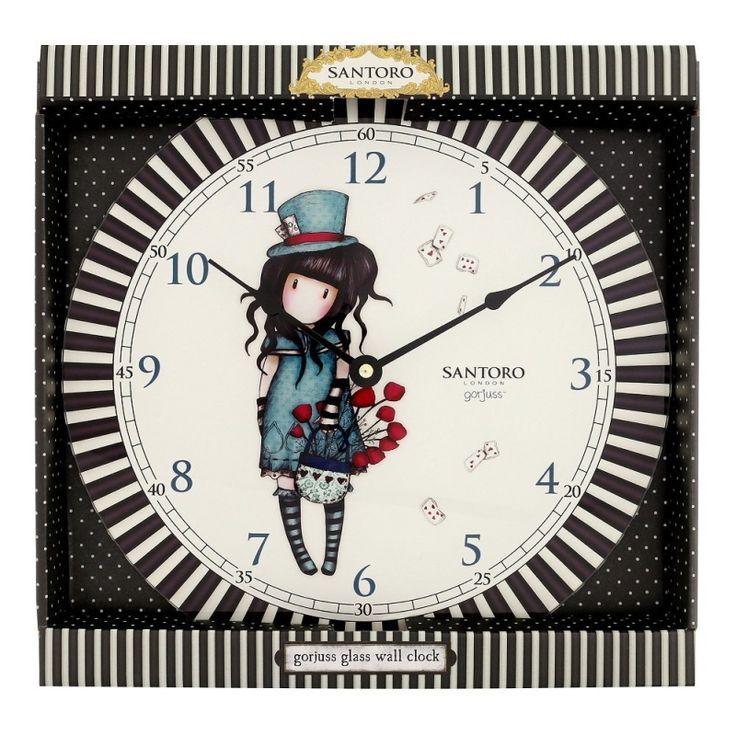 """Santoro London Orologio Da Parete Classic Stripe Gorjuss """"Tic tac, tic tac, delizioso orologio da parete griffato Santoro London, il modo perfetto per tenere il tempo con un tocco di gorjuss a casa e in ufficio !"""