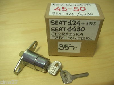 SEAT 124 (->1975) SEAT 1430  Cerradura tapa maletero con 2 llaves - nuevo Clausor Ref.  45-50