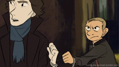 Sherlock gif. Quite possibly the best one yet. To the person who made this: you are a genius and an incredible artist. If someone knows who the maker of this gif is, please let me know! << Update to my original caption: Thanks to the help of some very nice people, I've found the artist! Here is a link to not-quite-normal's original post on tumblr: http://not-quite-normal.tumblr.com/post/16754352874