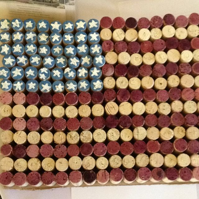 Flag out of wine corks.. Think this is what I am going to use my corks for