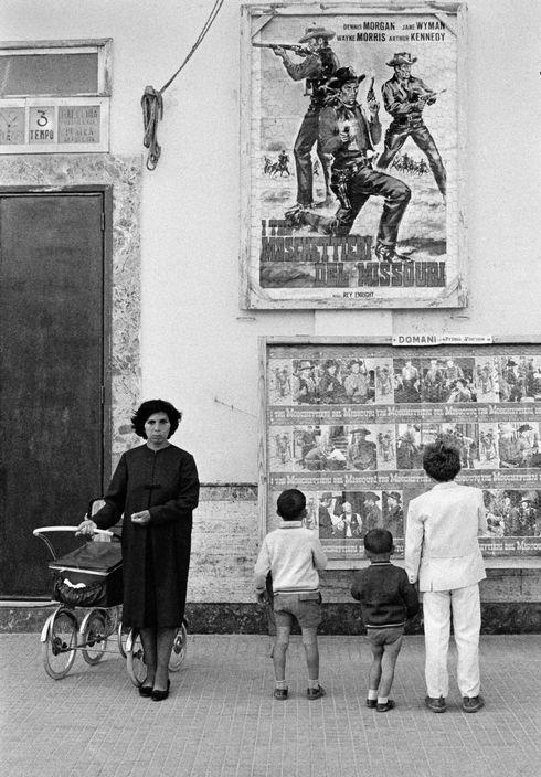 David Hurn  ITALY. Brindisi. The local cinema. 1964.