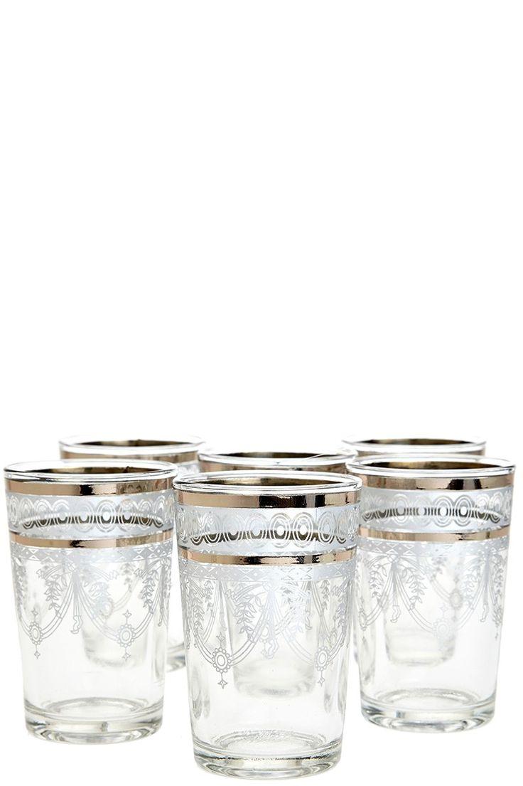 Moroccan Berber Tea Glasses Set-of-Six | Calypso St. Barth