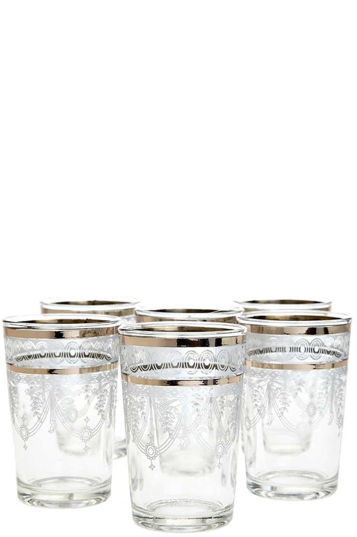 Moroccan Berber Tea Glasses Set-of-Six | Calypso St. Barth