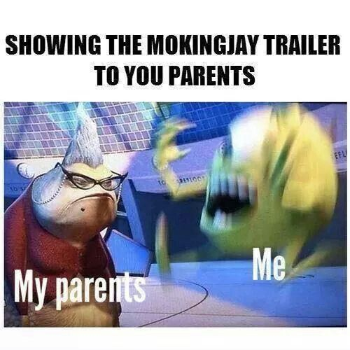 This made me laugh except my parents enjoy this trilogy so they were a little more excited.:-)