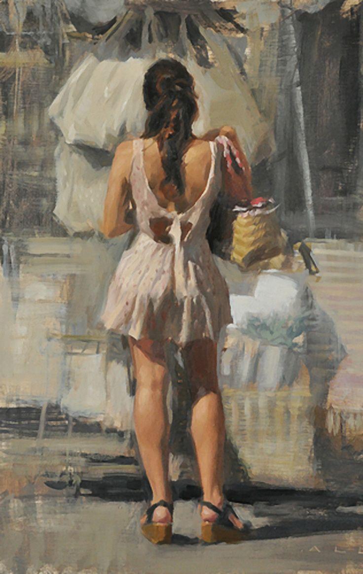 Bikini Figurative Fine Nude Oil Painting Pics