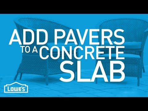 """How to lay 1"""" pavers over existing concrete. - YouTube"""