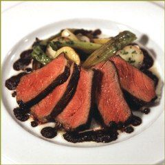 Grilled Niman Ranch Sirloin Steak with Tapenade, Roasted New Potatoes and Baby Leeks Recipe by Michael - CookEatShare