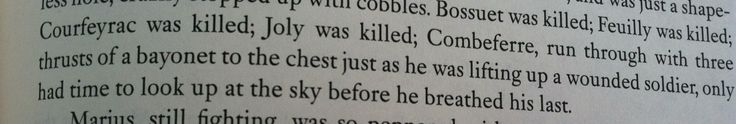 Victor Hugo, you can't just kill five characters in one sentence!